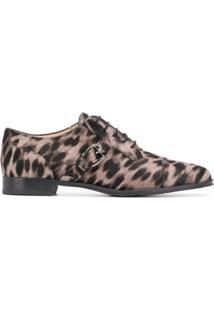 Tod'S Sapato Oxford Com Estampa De Leopardo - Neutro