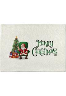 Tapete De Pano Para Banheiro Cadeira Papai Noel Único