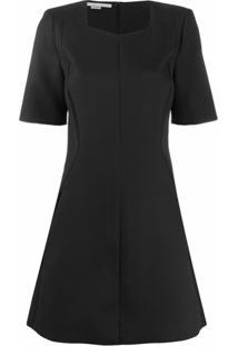 Stella Mccartney Vestido Curto Com Decote Quadrado - Preto