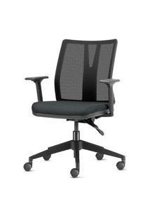 Cadeira Addit Assento Crepe Cinza Com Base Piramidal Em Nylon - 54105 Cinza