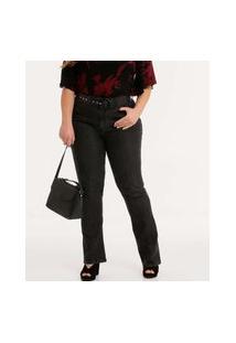Calça Plus Size Feminina Jeans Boot Cup