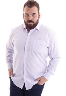 Camisa Comfort Plus Size Xadrez Azul 1485-31 - G4
