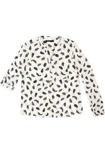 12da10b6b Camisa Feminina Em Tecido De Viscose Com Estampa