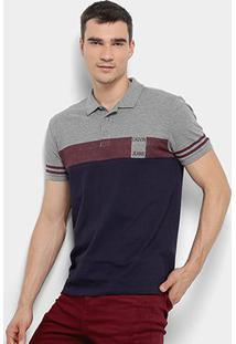 Camisa Polo Calvin Klein Faixa Masculina - Masculino