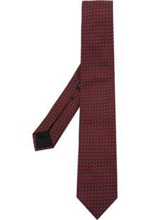 Boss Hugo Boss Gravata De Seda Estampada - Vermelho