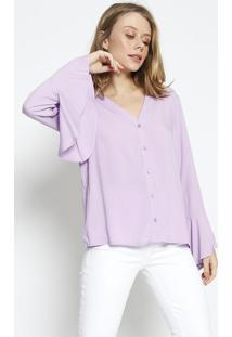 Camisa Lisa Com Tag - Lilã¡S - Colccicolcci