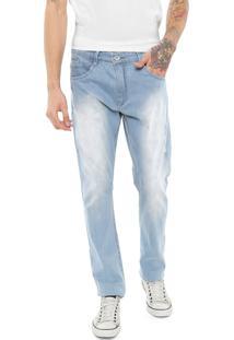 Calça Jeans Dixie Slim Estonada Azul
