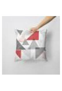 Capa De Almofada Avulsa Decorativa Triângulos Abstratos 35X35Cm