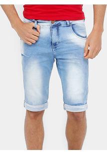 Bermuda Jeans Rock & Soda Skinny Super Stone Clara Masculina - Masculino