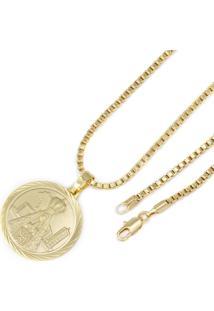 Pingente Nossa Senhora Com Corrente Tudo Jóias Veneziana Dourada