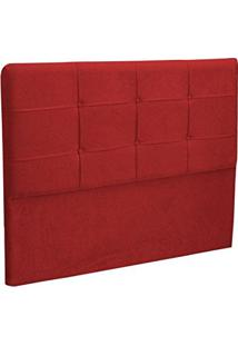 Cabeceira Casal Cama Box 140 Cm London Vermelho - Js Móveis