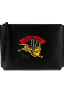 Kenzo Jumping Tiger Clutch Bag - Preto