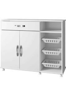 Armário Cozinha Com Fruteira Salinas Arte Móveis Cor:Branco