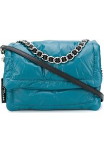 Marc Jacobs Bolsa Tiracolo The Pillow Matelassê - Azul