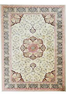Tapete Mashhad Retangular Veludo 98X150 Cm Verde