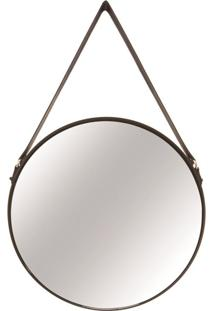 Espelho Em Metal Preto