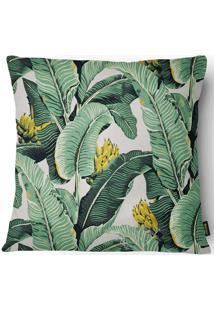 Capa Para Almofada Garden Bananeira 027 43X43Cm - Belchior - Bege / Verde
