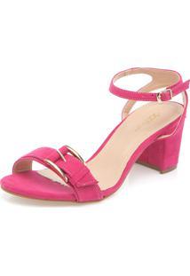 Sandália Dafiti Shoes Salto Baixo Rosa