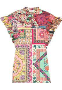Etro Patchwork Print Blouse - Rosa
