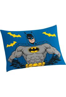 Fronha Batman Avulso Lepper Azul Azul