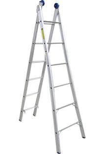Escada Extensível 2 X 6 Degraus De Alumínio-Mor-005161