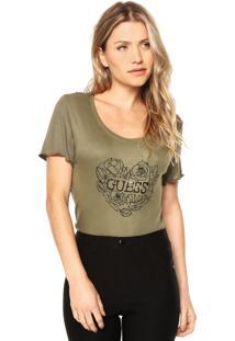 Camiseta Guess Coração Verde