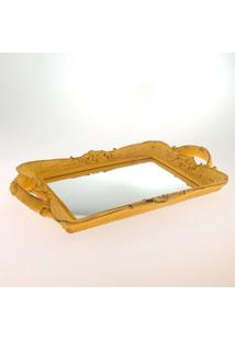Bandeja Espelhada Retro Amarelo Provençal 20X30Xcm