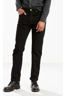 Calça Jeans 505 Regular Big Tall (Plus) Levis - Masculino-Preto
