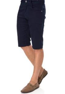 Bermuda Liminar Sarja Masculina - Masculino-Marinho