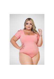 Body Bufante Seduzzy Plus Size Rosê