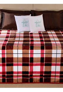 Cobertor Queen Size Vinho