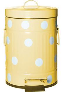 Lixeira Poã¡- Amarela & Branca- 26Xã˜16,5Cm- Btc Dbtc Decor