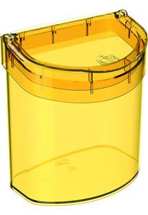 Lixeira Glass Para Pia- Amarela- 20,8X20,1X14,3Cm