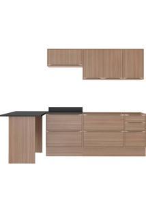 Cozinha Compacta Multimóveis Calábria 5455R.680.680 Nogueira Se