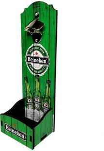 Abridor De Garrafa Parede Grande Cerveja Verde 34X12X12Cm