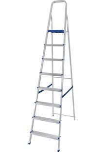 Escada Alumínio 8 Degraus 5106 Capacidade De 120Kg - Mor