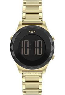 Relógio Technos Crystal Digital Feminino - Feminino-Dourado