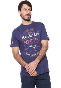 Camiseta New Era New England Patriots Azul-Marinho
