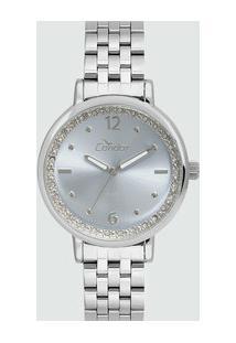 Relógio Feminino Strass Condor Co2035Fng3A