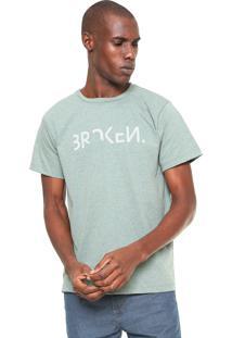 Camiseta Fiveblu Manga Curta Estampada Verde