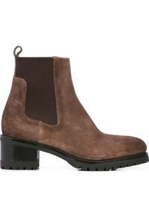 Santoni Block Heel Ankle Boots - Marrom