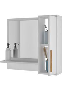Aéreo Para Banheiro 2 Portas Versa Branco - Brv Móveis
