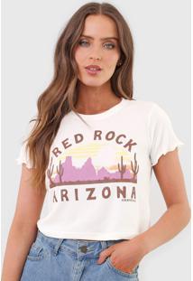 Camiseta Cropped Aeropostale Arizona Off-White