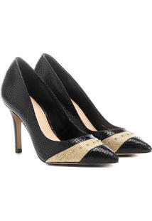 Scarpin Shoestock Salto Fino Cobra