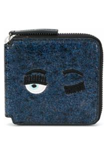 Chiara Ferragni Carteira Blinking Eye - Azul