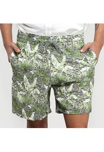 Short All Free Folhagem Masculino - Masculino-Verde