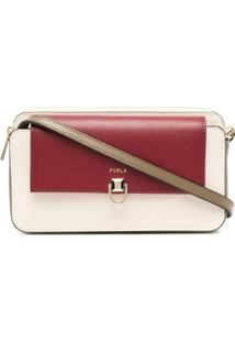 Furla Two-Tone Leather Shoulder Bag - Neutro