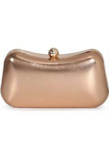 Bolsa Clutch Lara Assimétrica Bronze Bronze