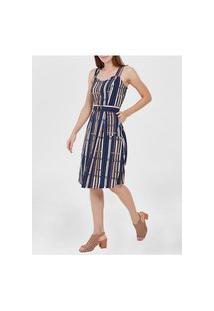 Vestido Midi Feminino - Azul Marinho