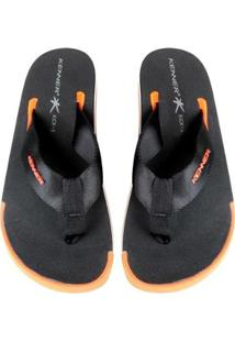 Chinelo Kenner Kick.S Line Black Masculino - Masculino-Laranja+Preto